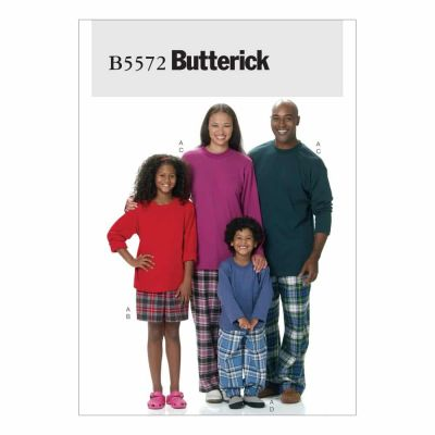 Butterick Sewing Pattern B5572 Misses'/Men's/Children's/Boys'/Girls' Top, Shorts and Pants