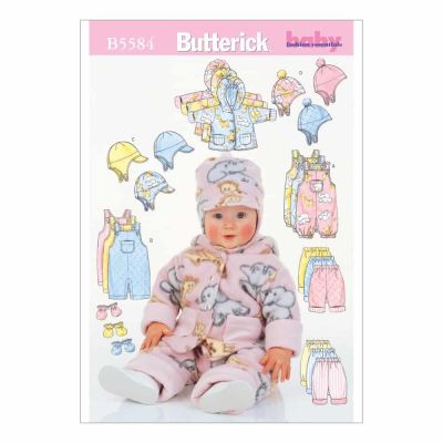 Butterick Sewing Pattern B5584 Infants' Jacket, Overalls, Pants, Hat and Mittens