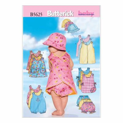 Butterick Sewing Pattern B5625 Infants' Romper, Jumper, Panties and Hat