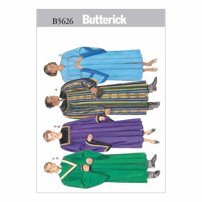 Butterick Sewing Pattern B5626 Unisex Robe and Collar