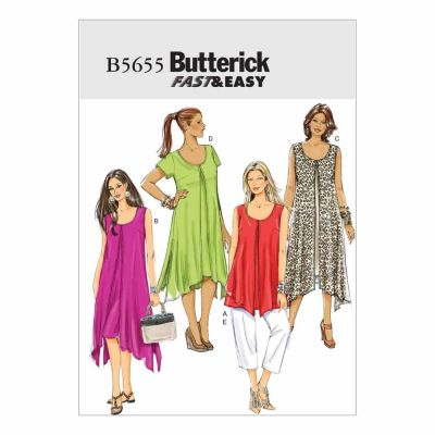 Butterick Sewing Pattern B5655 Misses'/Women's Top, Dress and Pants