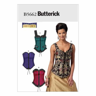Butterick Sewing Pattern B5662 Misses' Corsets
