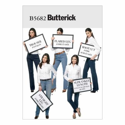 Butterick Sewing Pattern B5682 Misses' Jeans and Trousers