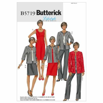 Butterick Sewing Pattern B5719 Misses'/Women's Jacket, Dress, Skirt and Pants