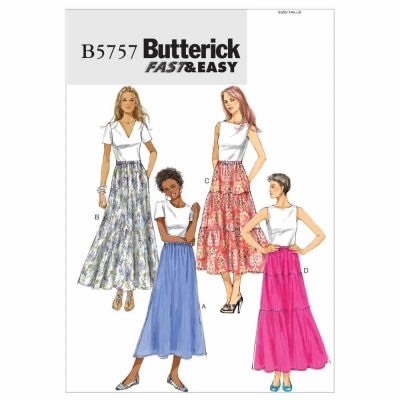 Butterick Sewing Pattern B5757 Misses' Skirt