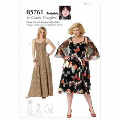 Butterick Sewing Pattern B5761 Misses'/Women's Wrap and Dress
