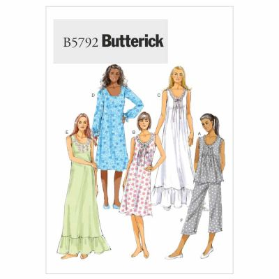 Butterick Sewing Pattern B5792 Misses' Top, Gown and Pants