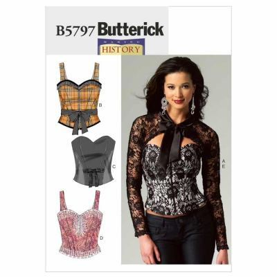 Butterick Sewing Pattern B5797 Misses' Corset, Sash and Shrug