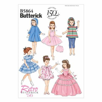 "Butterick Sewing Pattern B5864 Clothes For 18"" Doll"