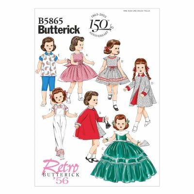 "Butterick Sewing Pattern B5865 Clothes For 18"" Doll"