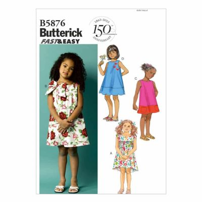Butterick Sewing Pattern B5876 Toddlers'/Children's Dress