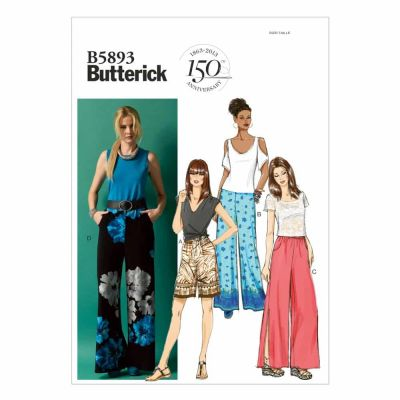 Butterick Sewing Pattern B5893 Misses' Shorts and Pants