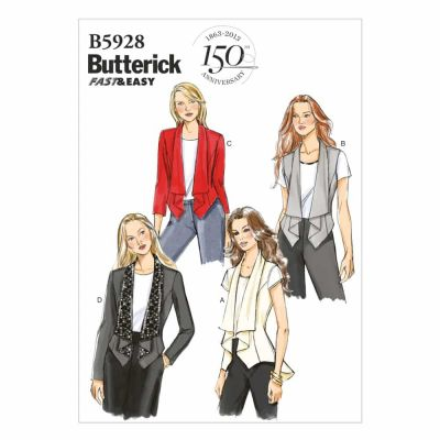 Butterick Sewing Pattern B5928 Misses' Vest and Jacket