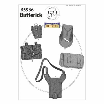 Butterick Sewing Pattern B5936 Gaunlet, Water Bottle Carrier and Pouches