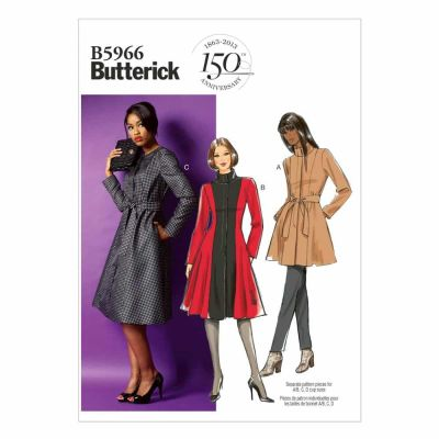 Butterick Sewing Pattern B5966 Misses'/Women's Jacket, Coat and Belt