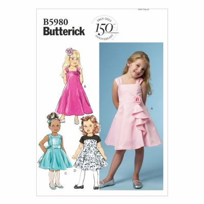 Butterick Sewing Pattern B5980 Children's/Girls' Dress