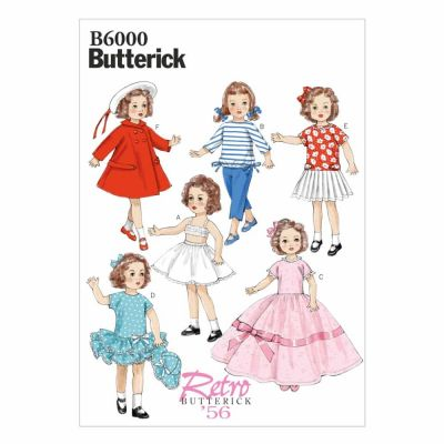 "Butterick Sewing Pattern B6000 Clothes For 18"" (46cm) Doll"