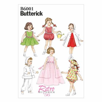 "Butterick Sewing Pattern B6001 Clothes For 18"" (46cm) Doll"