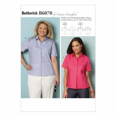 Butterick Sewing Pattern B6070 Misses'/Women's Shirt