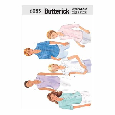 Butterick Sewing Pattern B6085 Misses'/Misses' Petite Shirt