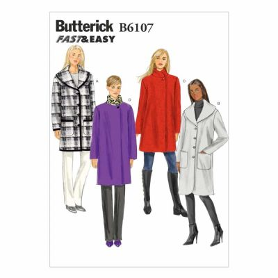 Butterick Sewing Pattern B6107 Misses' Coat