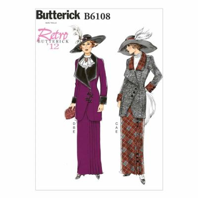Butterick Sewing Pattern B6108 Misses' Jacket, Bib and Skirt