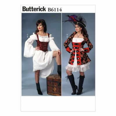 Butterick Sewing Pattern B6114 Misses' Costume