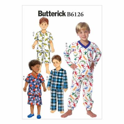Butterick Sewing Pattern B6126 Children's/Boys' Top, Shorts and Pants