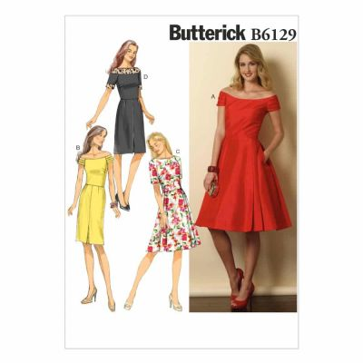 Butterick Sewing Pattern B6129 Misses'/Misses' Petite Dress
