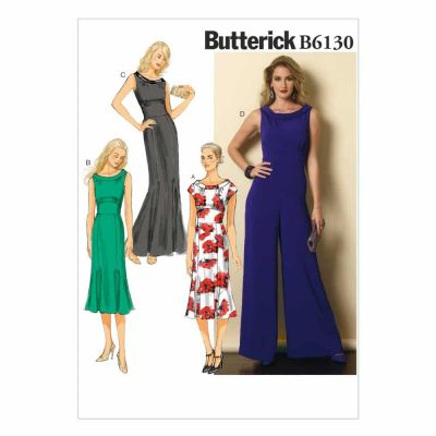 Butterick Sewing Pattern B6130 Misses' Dress and Jumpsuit