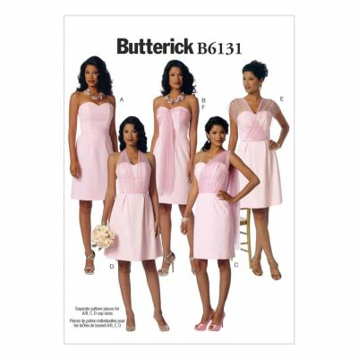 Butterick Sewing Pattern B6131 Misses' Dress and Sash