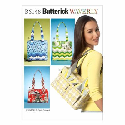 Butterick Sewing Pattern B6148 Tote Bags