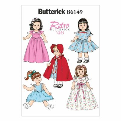 "Butterick Sewing Pattern B6149 18"" Doll Clothes"