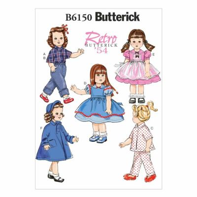 "Butterick Sewing Pattern B6150 18"" Doll Clothes"