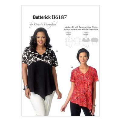 Butterick Sewing Pattern B6187 Misses'/Women's Top