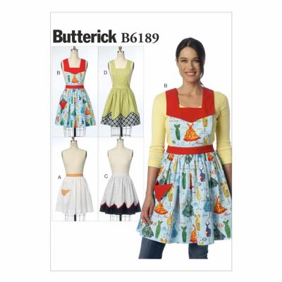 Butterick Sewing Pattern B6189 Misses' Aprons