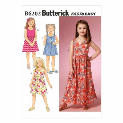 Butterick Sewing Pattern B6202 Children's/Girls' Dress and Culottes