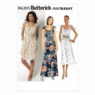 Butterick Sewing Pattern B6205 Misses' Dress