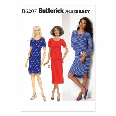 Butterick Sewing Pattern B6207 Misses' Top, Dress and Skirt