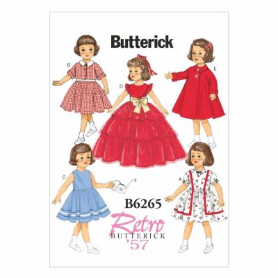 "Butterick Sewing Pattern B6265 18"" Doll Clothes"