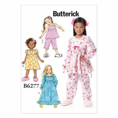 Butterick Sewing Pattern B6277 Children's/Girls' Top, Dress, Gown and Pants