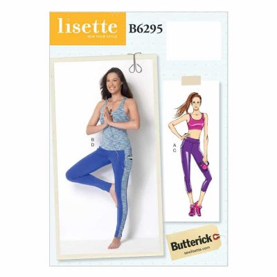Butterick Sewing Pattern B6295 Misses' Bra Top, Top and Leggings