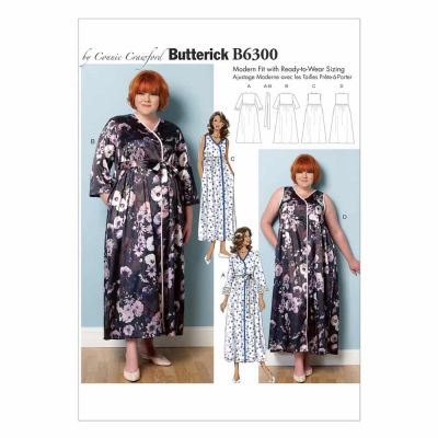Butterick Sewing Pattern B6300 Misses'/Women's Robe, Belt and Negligee