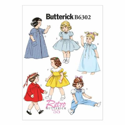"Butterick Sewing Pattern B6302 18"" Doll Clothes"