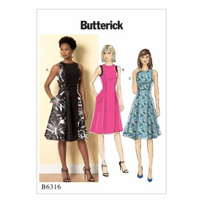 Butterick Sewing Pattern B6316 Misses' Sleeveless Fit and Flare Dresses