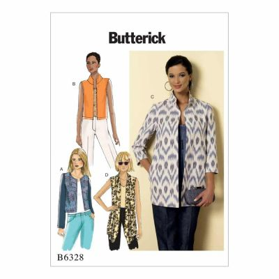 Butterick Sewing Pattern B6328 Misses' Open-Front Jackets
