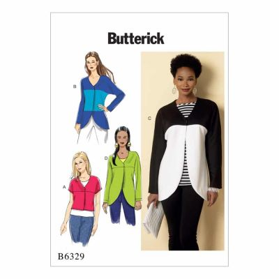 Butterick Sewing Pattern B6329 Misses' Curved-Seam or Cropped Jackets