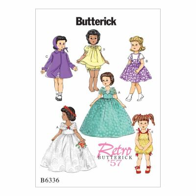 "Butterick Sewing Pattern B6336 Retro Outfits for 18"" Doll"
