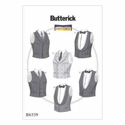 Butterick Sewing Pattern B6339 Single or Double-Breasted Vests