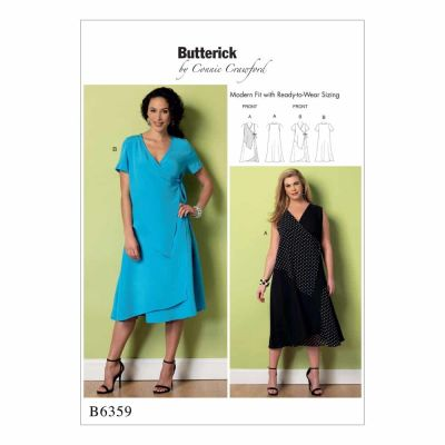 Butterick Sewing Pattern B6359 Misses'/Women's Wrap Dresses with Overlays